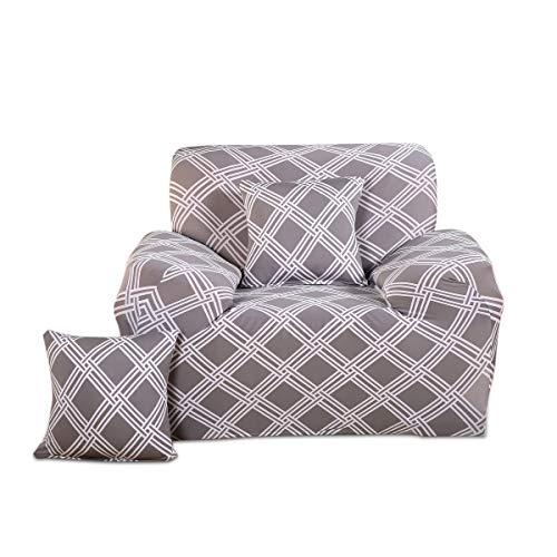 Fashion·LIFE Fundas de sofá Life 2 Plaza Funda de Sofá Elástica Cubre para Silla o Sillón en Tejido Elástico Estampado Urban