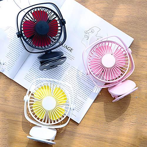 Kshzmoto Mini USB Ventilador de enfriamiento de Aire Recargable Clip Ventilador de Escritorio Uso Dual Hogar Estudiante Dormitorio Mesita de Noche Ventilador de Escritorio portátil