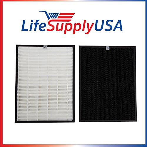 LifeSupplyUSA Replacement Filter Set Compatible with Winix Filter J Compatible with Hr950 & Hr1000 Air Purifiers