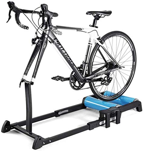 JLDN Indoor Bike Resistance Trainers, Bike Trainer Stand Progressive Resistance Bicycle Turbo Trainer Quiet Noise Reduction Indoor for Mountain & Road Bikes,Blue