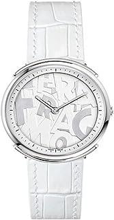 Logomania Quartz White Dial Ladies Watch FFY010017