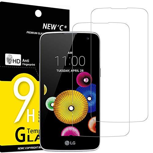 NEW'C 2 Stück, Schutzfolie Panzerglas für LG K4, Frei von Kratzern, 9H Festigkeit, HD Bildschirmschutzfolie, 0.33mm Ultra-klar, Ultrawiderstandsfähig