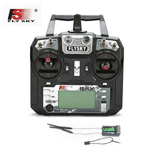Xiangtat Flysky FS-i6X 2.4G 10CH AFHDS 2A Mode 2 (Left Hand Throttle) Transmitter with FS-iA6B Receiver for RC Quadcopter Multirotor Drone Airplane Helicopter