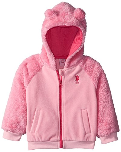 US Polo Association Baby Girls' Outerwear Jacket (More Styles Available), UB16-Light Pink, 12M