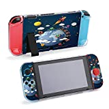 SUPNON Vector Illustration of Travel Transportation Protective Case Compatible with Nintendo Switch Soft Slim Grip Cover Shell for Console & Joy-Con with Screen Protector, Thumb Grips Design26149