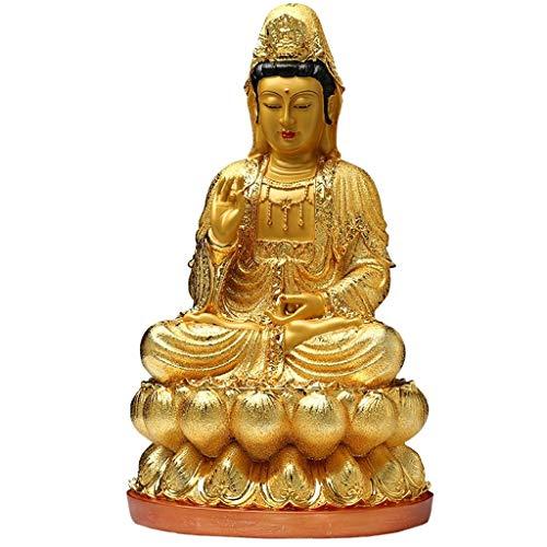 Fengshop Buddha Statue Resin Statue von Buddha Guanyin Jingping Guanyin Tempel for Guanyin je gewesen Sicherheit und Frieden Kleinplastik Buddha