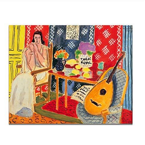 Suuyar Henri Matisse Wandkunst Leinwanddruck Vintage Kunst Poster Malerei Wohnzimmer Wanddekor Geschenk Druck auf Leinwand -50x70cm Kein Rahmen
