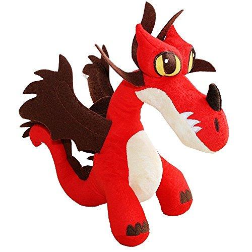 Dragons Hakenzahn Drache | DreamWorks Plüsch Figur | Hookfang | 34x14x33 cm