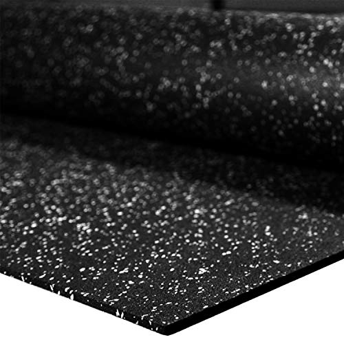 IncStores 1/4' Tough Rubber Roll (4' x 10') - Excellent Gym Floor mats for Medium/Large Equipment and Light/Moderate Free Weights (1 Mats - 4'x10' Egg Shell)