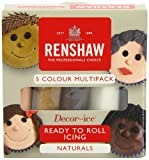 kit 5 couleurs Naturels pâte à sucre Renshaw DLUO 12/2014