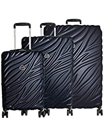 """ENJOY TRAVELING AGAIN: If youre tired of hauling around heavy and bulky luggage bags then our lightweight luggage set is what youve been looking for. Our hardside spinner luggage set comes with a 29"""" suitcase (32x20x12.75 inches), 25"""" suitcase (27.25..."""