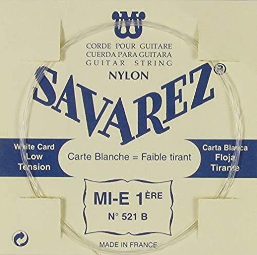 Savarez Saiten für Traditional Concert 521B Klassische Gitarre Einzelsaiten - E tief - geeignet für 520B