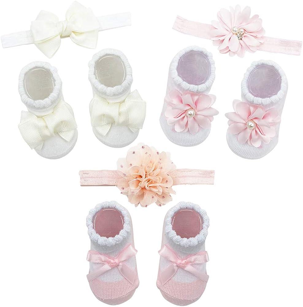 Baby Girl Socks and Headband Giftset