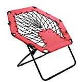 Harvil Portable Hexagon Bungee Chair, Red