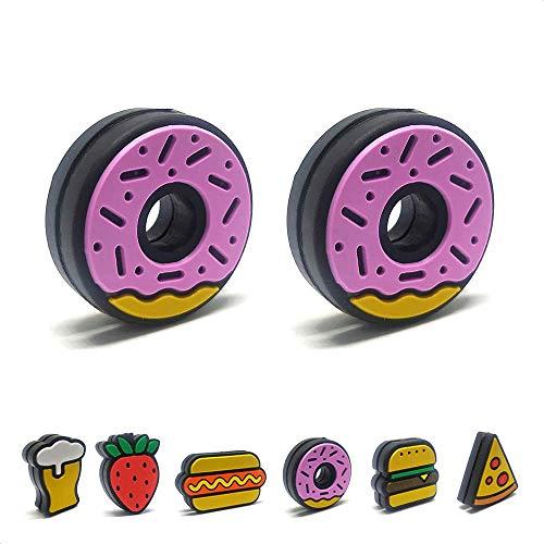 Tennis Feel Healthy Pack • Fast Food Antivibradores • Amortiguadores para Raquetas de Tenis • Hamburgers - Donuts • Pack de 2 (Donuts)