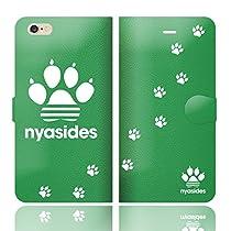 iPhone6SPlus iPhone6Plus 手帳型 ケース カバー NYASIDES ニャシデス E ハート アニマル ワンポイント 面白い 猫 ネコ ねこ