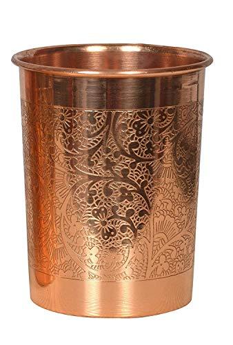 WorldOfIndianArt - Cristal de cobre para decoración del hogar y la cocina (300 ml)