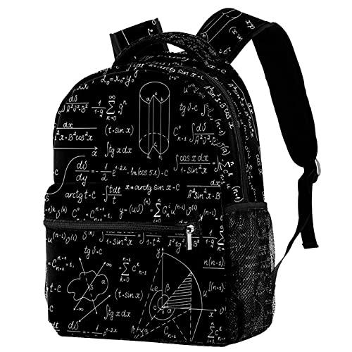 Z&Q Zaino per Bambini Formula di grafici geometrici Anime di moda zaino, Ragazze di moda zaino Scuola Borsa 29.4x20x40cm