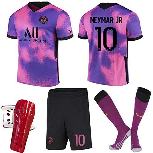 Fußball Trikot für Kinder und Erwachsene Herren Jersey, Jordan Point of View 7#Mbappé 10#Neymar Neymar 10 Mbappé 7 Fan Fußballtrikots, T-Shirt,2021