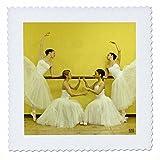 3dRose qs_10005_2 Ballerinas des National Ballett trägt