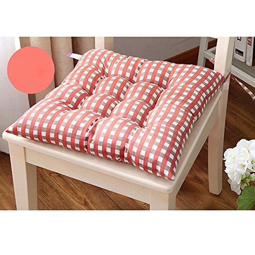 FeiliandaJJ Sitzkissen,Stuhlkissen 35x35CM Kariert Sitzauflage für Indoor Outdoor Haus Garten Balkon Terrasse Büro Kissen (Orange)