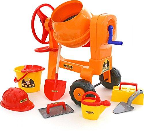 Wader Quality Toys Mischmaschine mit Baustellenset 8-TLG. (im Karton)