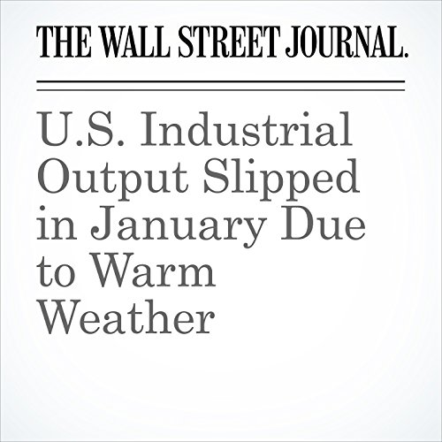 U.S. Industrial Output Slipped in January Due to Warm Weather copertina