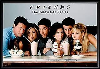 Friends TV Milkshake Poster US Version Framed (Black)