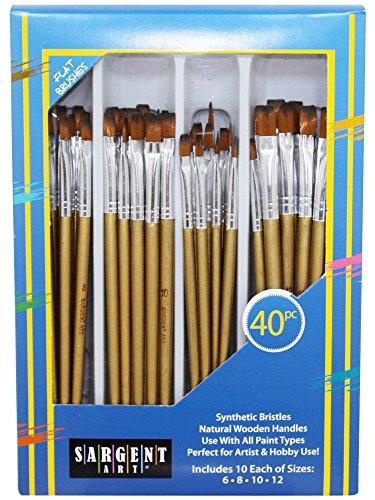 Sargent Art 56–310240Piece Flat Brush Set