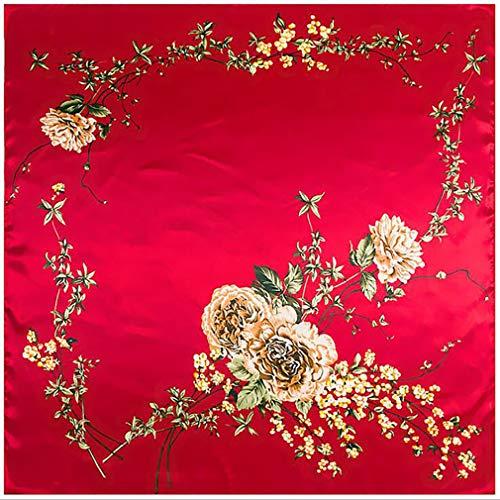 JOOFFF dames vierkante sjaal van zijde, modieus, elegant, grote sjaals, satijn, dressingaccessoires