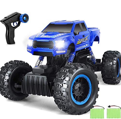 1:12 RC Cars Monster Truck 4WD Dual Motors Rechargeable Off Road Remote Control Truck Rock Crawler Car RC Hobby Truck Gifts for Boys,Girls,Kids/Adults