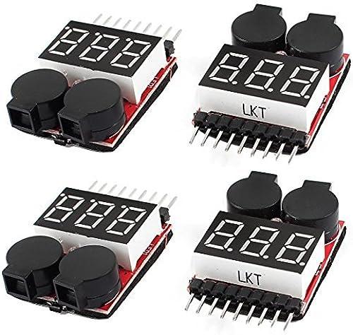 envío rápido en todo el mundo DealMux 1-8S 2 en 1 Lipo Batería Baja Tensión de de de prueba Mmeter alarma del zumbador de 4 piezas  clásico atemporal