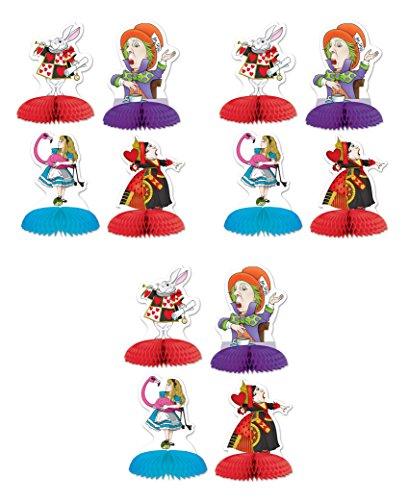 Beistle 54769, 12 Piece Alice In Wonderland Mini Centerpieces, 5