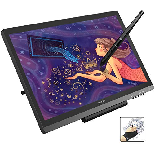 Huion KAMVAS GT-191V2 Graphics Drawing Monitor Drawing Tablets with IPS Screen 19.5 Inch 8192 Levels Pen Display for Windows and Mac PC
