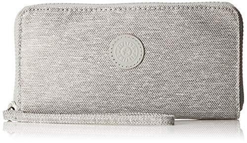 Kipling Damen Imali Geldbörse, Grau (Chalk Grey), 19x10x1 cm