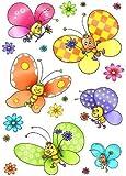 HEITMANN Fensterbild Schmetterling 6 Schmetterlinge in