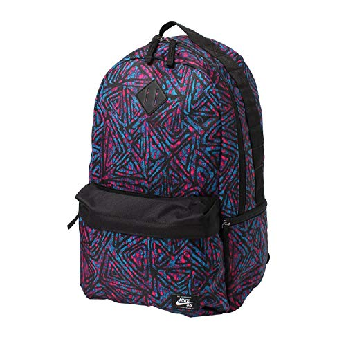 Nike Men's NK SB ICON BKPK-SP20 AOP Sports Backpack, Black/Laser Blue/(White), MISC