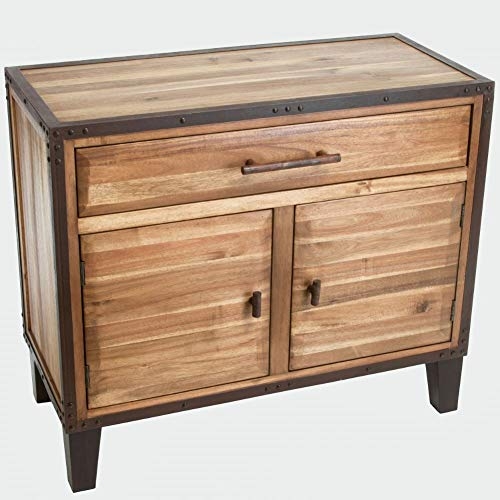 Christopher Knight Home El Paso Acacia Wood Storage Hutch, Natural Stain