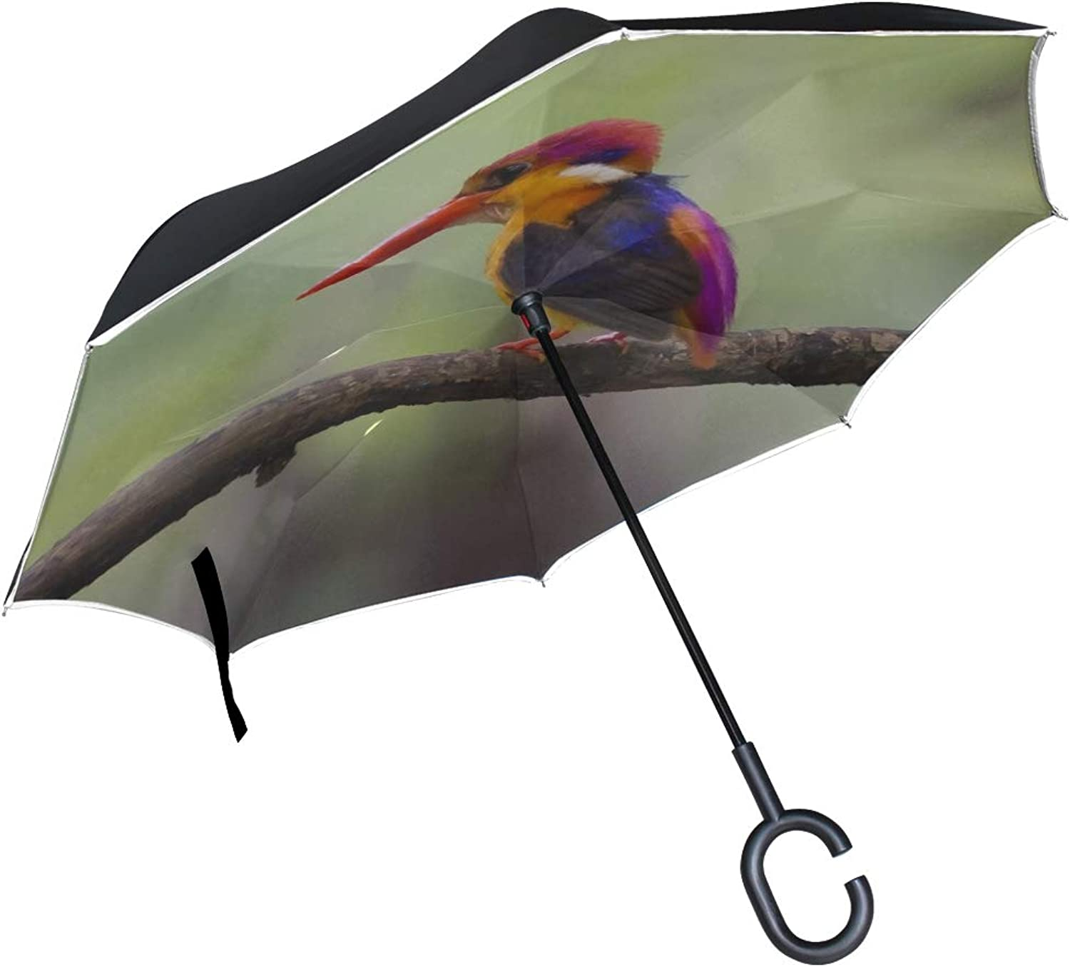 Rh Studio Ingreened Umbrella Bird Beak Branch Large Double Layer Outdoor Rain Sun Car Reversible Umbrella