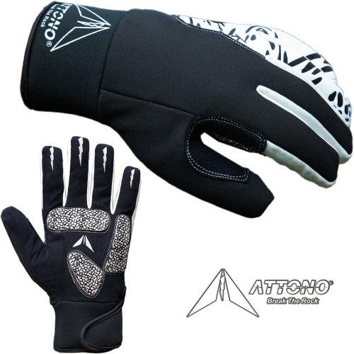 ATTONO Winter Fahrradhandschuhe Winter Gel Fahrrad Handschuhe mit wasserdicher Membrane - Größe 7/S