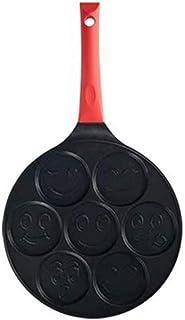 7 mögel pannkakor-panna med Smiley-ansikten, även för crepes, 24 cm, antistickbelagd, Smileyface