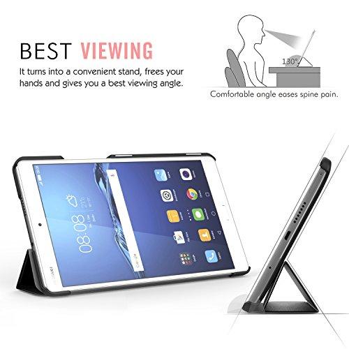 MoKo Huawei MediaPad M3 8.4 Hülle - Ultra Slim Lightweight Schutzhülle Smart Cover Standfunktion für Huawei MediaPad M3 8.4 2016 Tablet-PC perfekt geeignet, Schwarz - 2