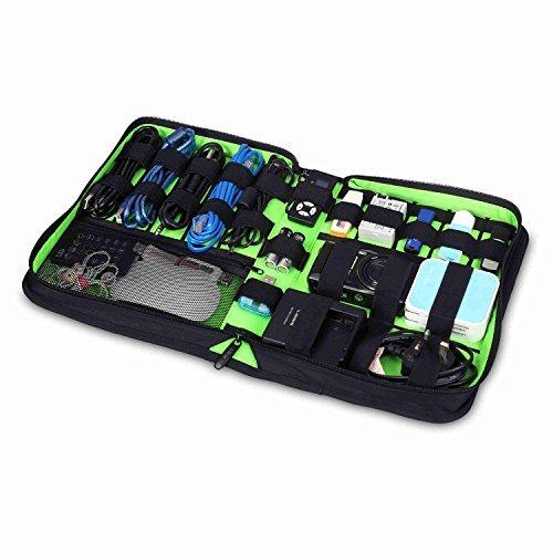 UBORSE Waterproof Travel Cable Organizer Electronics Accessories Cases with Handle for Various USB, Phone, Charge and Cable