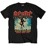 ACDC Men's AC/DC Blow up Your Video T-Shirt, Black (Black Black), Large