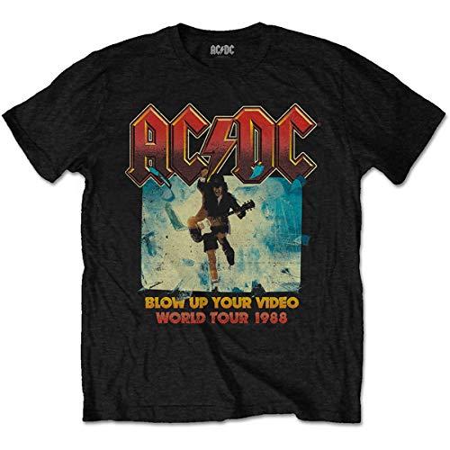 AC/DC Herren Blow Up Your Video T-Shirt, Schwarz, XXL