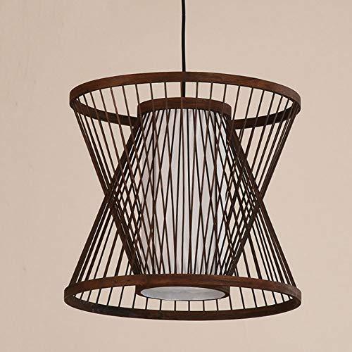 CSSYKV Restaurante Chino Arte De Bambú Araña De Bambú Personalidad Creativa Lámpara De Estilo Japonés Balcón Del Hotel Lámpara De Techo Alojamiento En Casa De Familia Área De Ocio Lámpara Decorativa R
