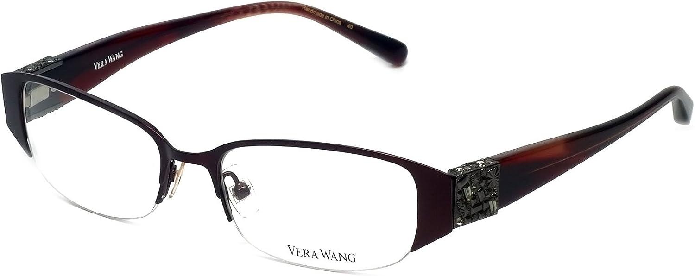 VERA WANG Dealing full price reduction Eyeglasses Burgundy NEW before selling ☆ V065 49MM