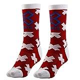Miki&Co Paar Unisex Sport Trekking Baumwolle Gemischt Kompression Wandern Socken Schwarz, mk812815de265015 -