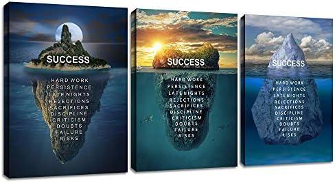 Motivational Office Wall Art Decor Inspirational Success Canvas Poster Print Positive Entrepreneur product image