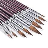 Sable Watercolor Brushes, Fuumuui 9pcs Detail to...